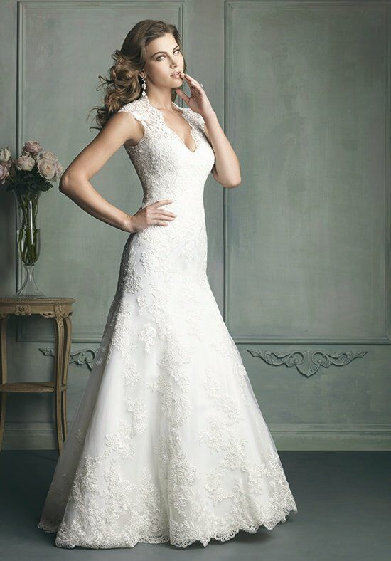 Allure bridals 9113 wedding dress the knot for Wedding registry the knot