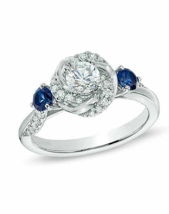 Vera Wang LOVE at Zales Vera Wang LOVE Collection 5 8 CT T W Diamond and Bl