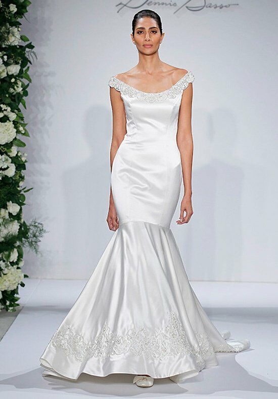 Dennis basso for kleinfeld 14039 wedding dress the knot for Kleinfeld mermaid wedding dresses
