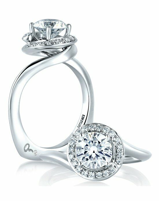 A Jaffe Swirl Engagement Ring