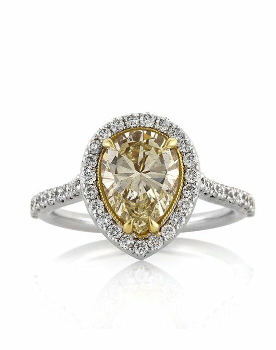 Mark Broumand 2.28ct Fancy Yellow Pear Shaped Diamond ...