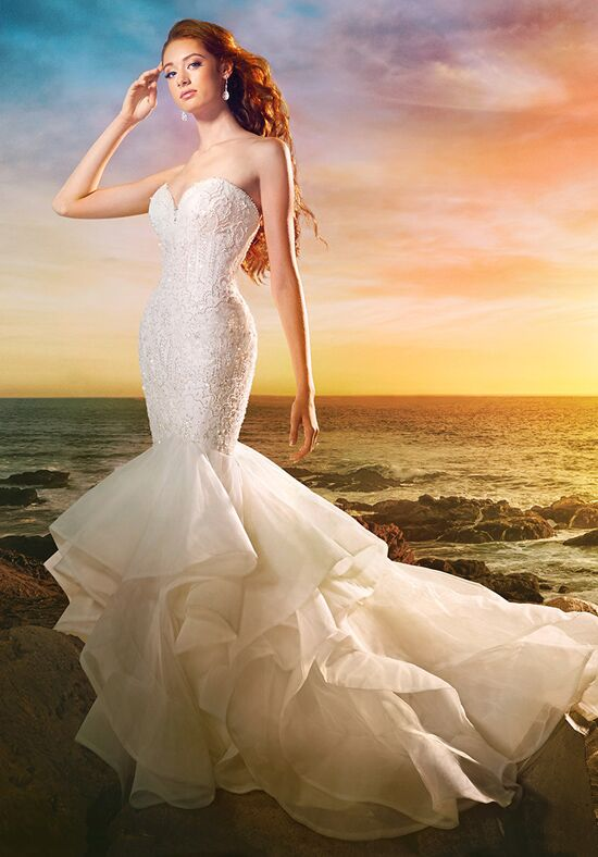 Alfred angelo disney fairy tale weddings bridal collection for Disney style wedding dresses