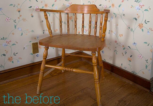 modernize a chair with a fresh coat of bright paint