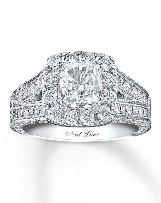 Neil Lane Diamond Engagement Ring 2 Ct Tw Cushion Cut 14K White Gold 99064390