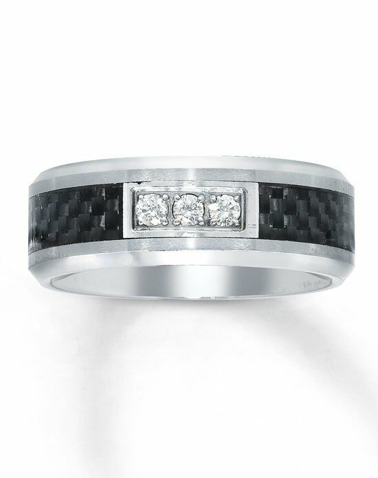 Kay Jewelers Tungsten Carbon Fiber Men S Diamond Ring 51117101