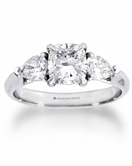 Diamond Ideals Custom Cushion with Pear-Shapes Engagement ...