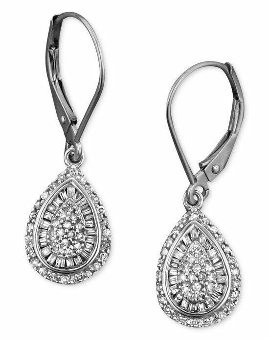 macy 39 s fine jewelry diamond earrings 14k white gold
