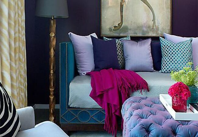 Jewel Tone Living Room