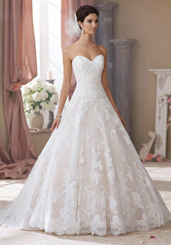 David tutera for mon cheri 214206 wyomia wedding dress for Wedding registry the knot