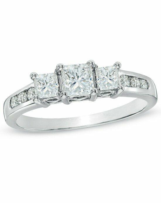 Zales Past Present Future Collection 1 CT T W Princess Cut Diamond 3 Stone