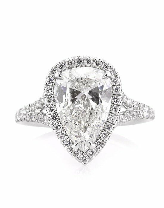 Mark Broumand 3.11ct Pear Shaped Diamond Engagement Ring ...