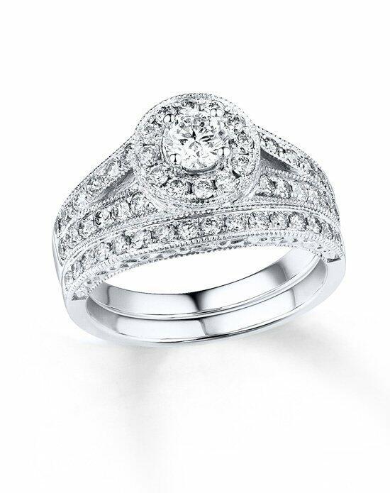 Kay Jewelers DIAMOND BRIDAL SET 3 4 CT TW ROUND CUT 14K WHITE GOLD Wedding Ri