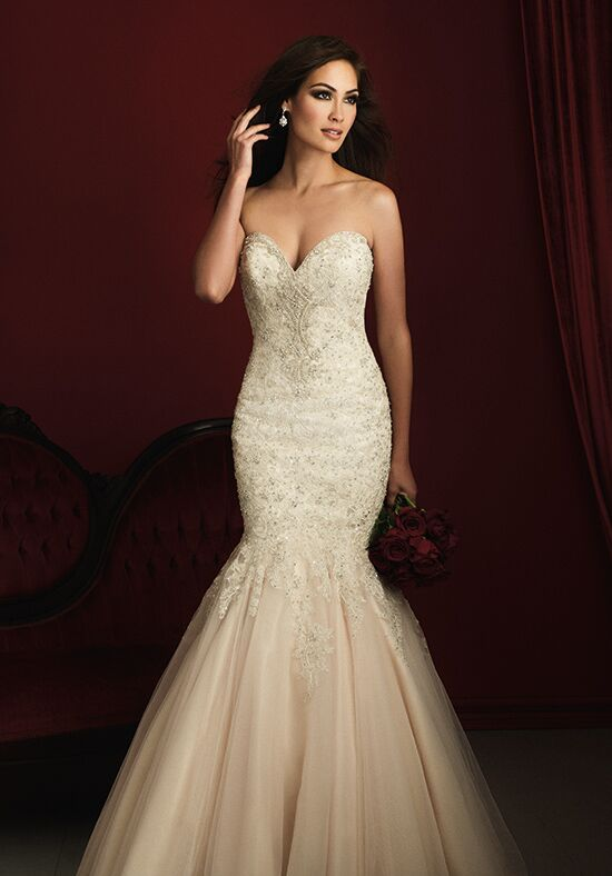 Allure couture c363 wedding dress the knot for Wedding dresses the knot
