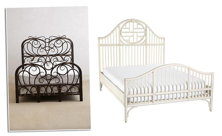 magical thinking rattan scroll side table from urban outfitters 159 rattan bed frames