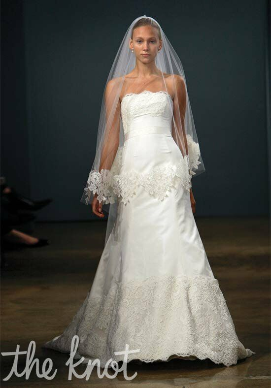 Monique lhuillier zuzanna wedding dress the knot for The knot gift registry