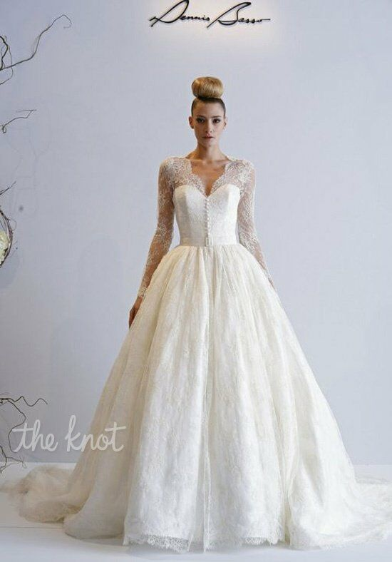 Dennis basso for kleinfeld lotus wedding dress the knot for Wedding dresses the knot