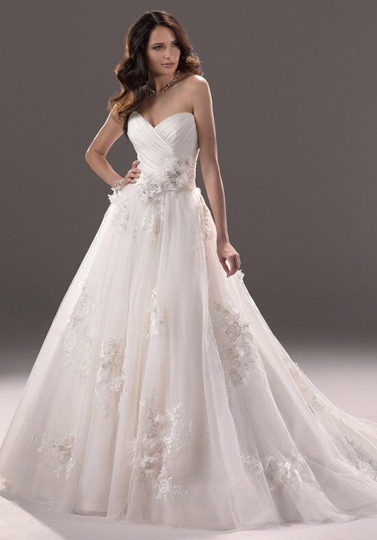 Maggie sottero effie wedding dress the knot for The knot gift registry