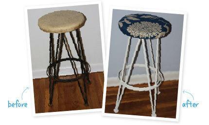 Tremendous Decor Painting And Diy Diy Stool Makeover Lamtechconsult Wood Chair Design Ideas Lamtechconsultcom