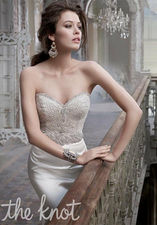 Lazaro 3214 wedding dress the knot for The knot gift registry