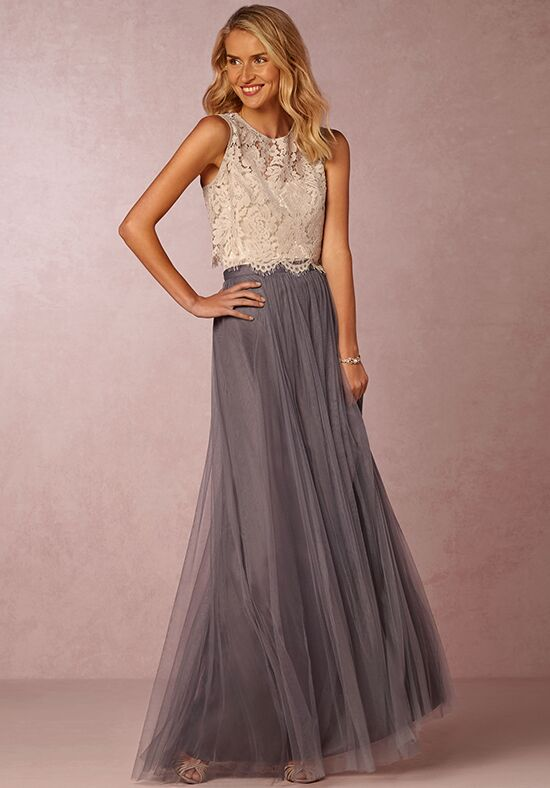 Bhldn bridesmaids cleo top light grey bridesmaid dress for Light grey wedding dress