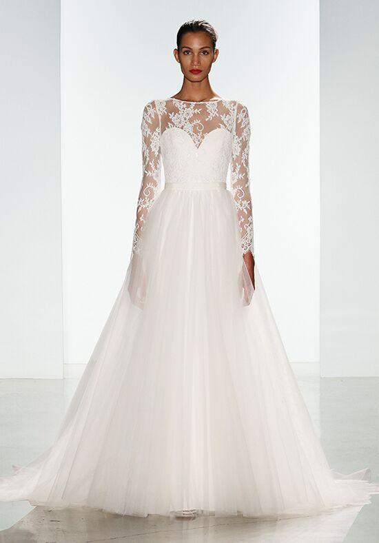 Nouvelle amsale noelle with kelsey overskirt wedding dress for Wedding dress with overskirt
