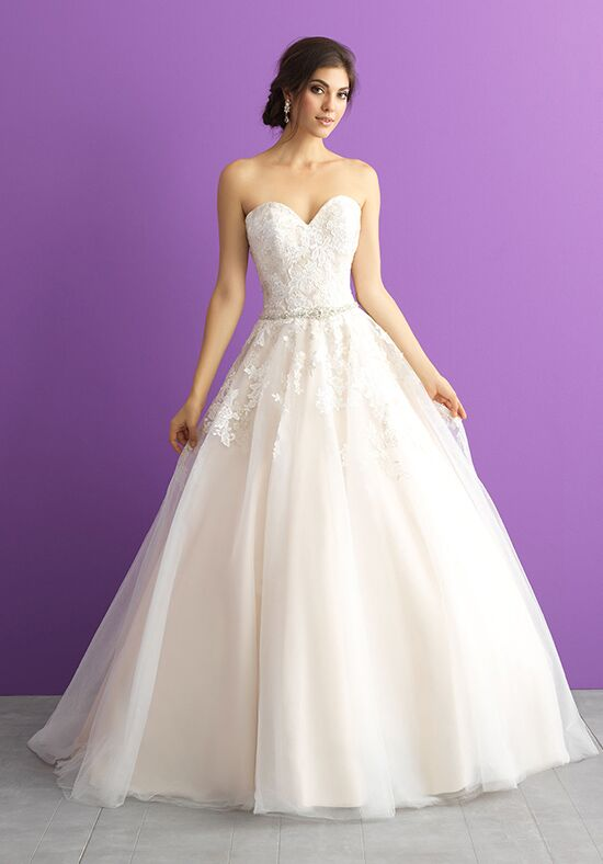 Allure romance 3001 wedding dress the knot for Wedding dresses the knot