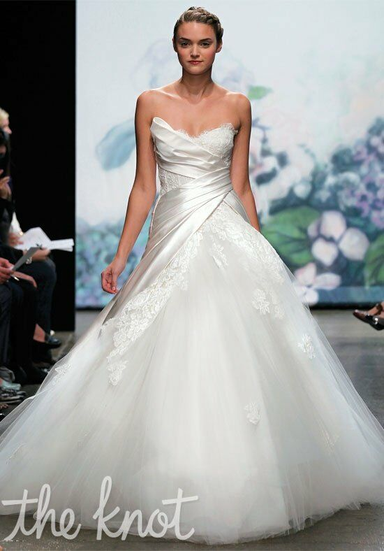 Monique lhuillier cecelia wedding dress the knot for The knot gift registry