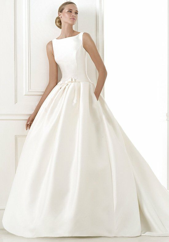 Pronovias barcaza wedding dress the knot for Wedding registry the knot