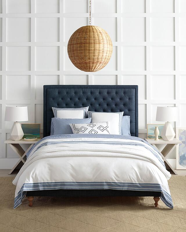 Beaumont blue and white bedding