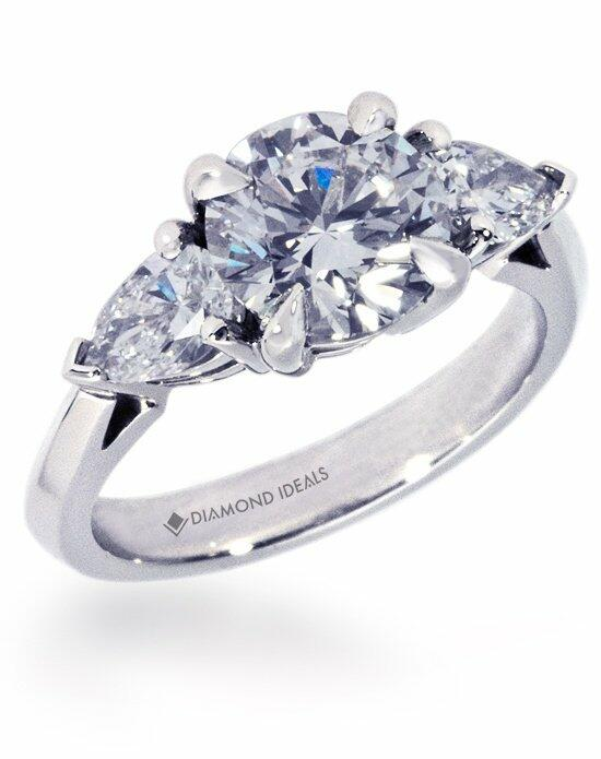 Diamond Ideals Custom Engagement Ring with Pear-Shape Side ...