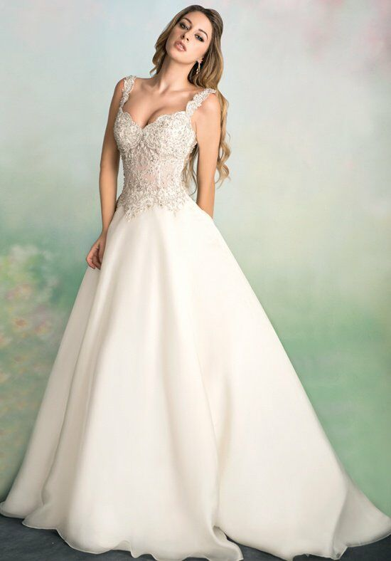 Ysa makino kym90 wedding dress the knot for Wedding dresses the knot