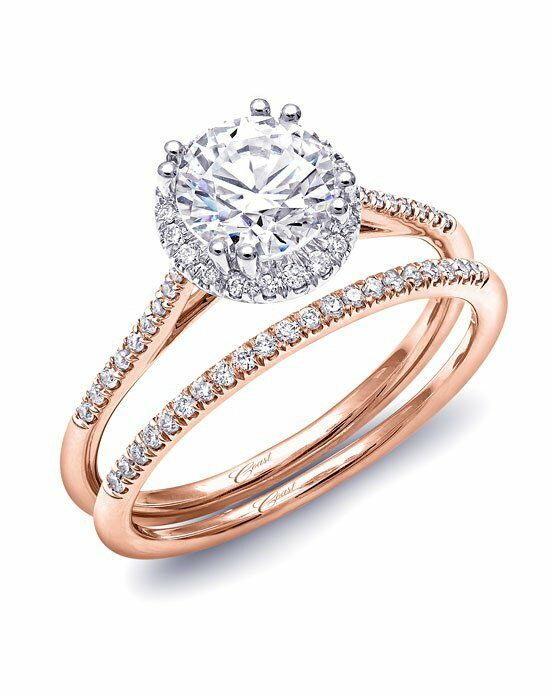 Coast Diamond Rose Gold Collection - LC5403 & WC5403 Engagement Ring - The  Knot