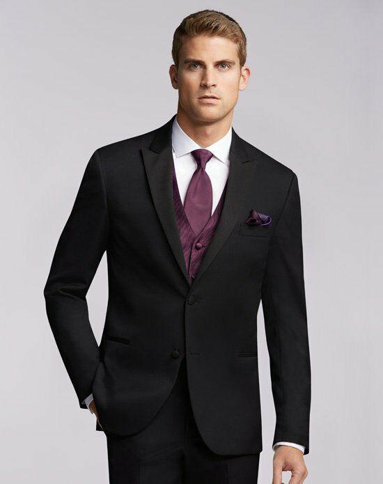 Wedding Gift From Groomsmen Etiquette : Mens Wearhouse Joseph Abboud? Black Tuxedo Wedding TuxedoThe Knot