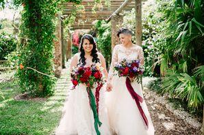 Same-Sex Wedding Portraits in Miami, Florida