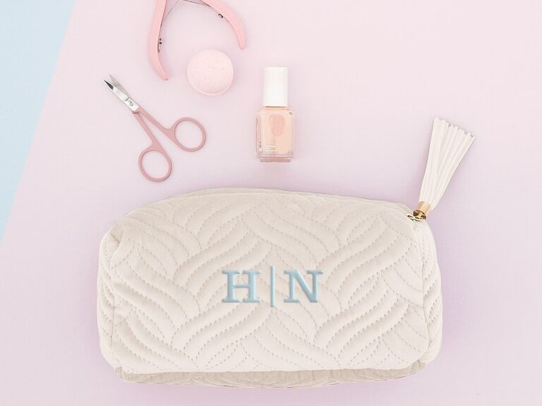 Cute monogram makeup bag gift for mother-in-law