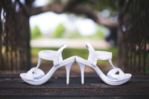 White Bridal Sandals for Texas Spring Wedding