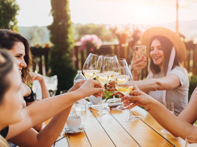 winery bachelorette party outside