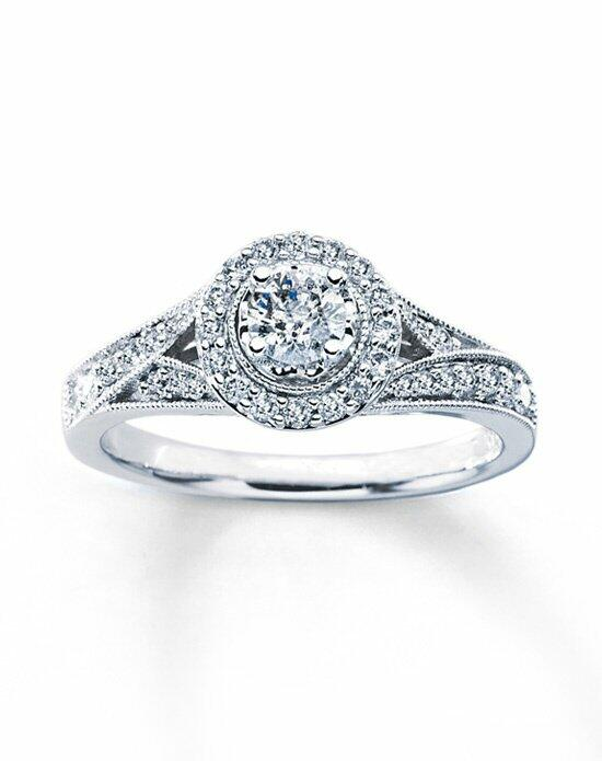Kay Jewelers DIAMOND ENGAGEMENT RING 5/8 CT TW ROUND-CUT 14K WHITE GOLD Engagement Ring photo