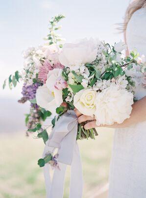 Garden Style Pastel Bridal Bouquet