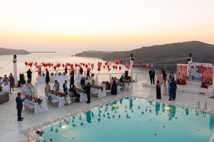 Elegant, Simple Waterfront Reception in Greece