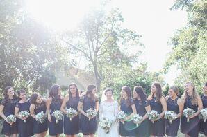 Preppy Navy Lace Bridesmaid Dresses
