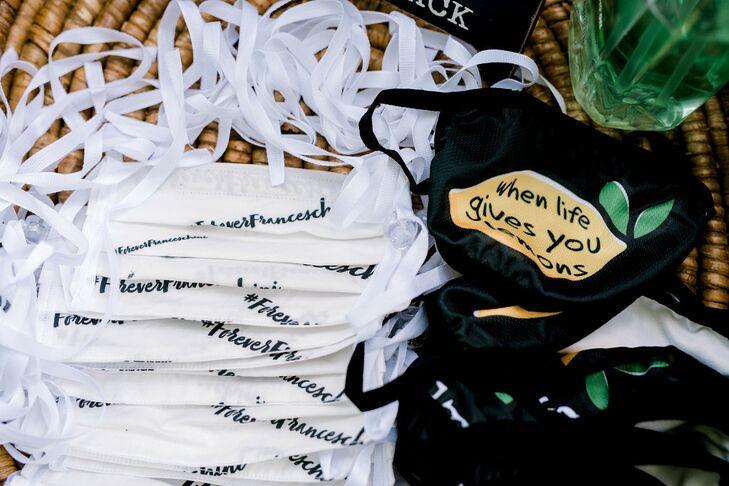 Lemon-Themed Masks at Backyard Minimony in New York
