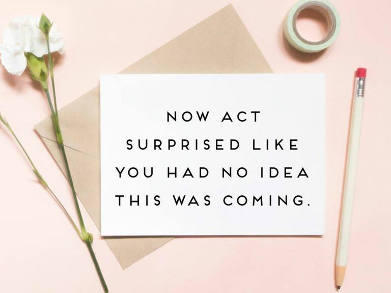 now act surprised bridesmaid proposal card