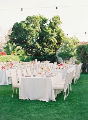 Elegant Neutral Reception Decor at The Inn at Rancho Santa Fe in California