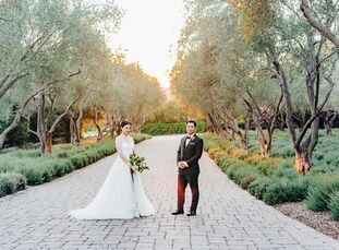 From the moment they got engaged, MichelleLi and Brian Yang wanted an outdoor garden ceremony. They eventually booked San Ysidro Ranch in Montecito,