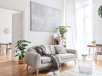 Cozy neutral living room