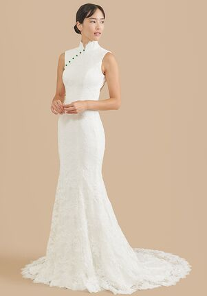 East Meets Dress Jade Bespoke Dress Mermaid Wedding Dress