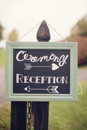 Mint Wedding Sign with Whimsical Arrows