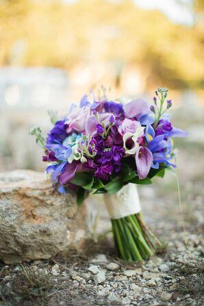 Bright Purple Bridal Bouquet