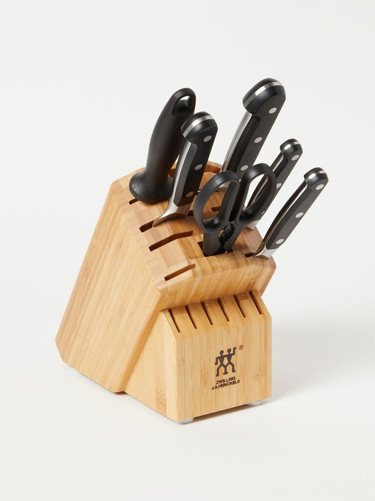 Knife set bridal shower gift idea